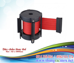 Cột chắn inox, cot chan inox, cuon day thay the, day chan thay the,